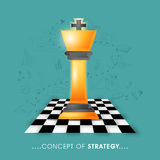 Chess piece for Business Strategy concept. Royalty Free Stock Photo