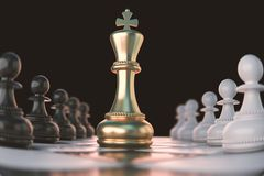 Chess piece Concept for business competition. Golden Chess piece Concept for business competition and strategy, 3d rendering vector illustration