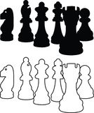 Chess Piece icons vector illustration Stock Photos
