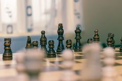Chess piece with the king royalty free stock images