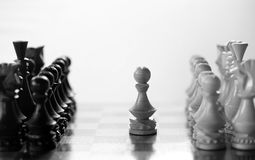 Chess piece pawn on board Stock Photography