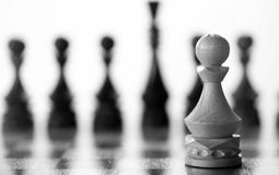 Chess piece pawn on board Royalty Free Stock Photos