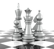 Chess. Piece,  on white background. 3D Rendering Royalty Free Stock Images