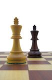 Chess pieces. White and black king Royalty Free Stock Image