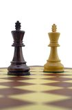 Chess pieces. White and black king Royalty Free Stock Photography