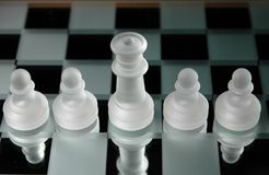 Chess pieces-13. Close up of chess pieces Stock Photography