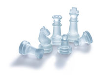 Chess Pieces. Isolated on a clean white background with a nice drop shadow Royalty Free Stock Image