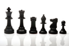 Chess pieces. Set of black chess pieces Stock Image
