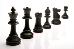 Chess pieces. Set of black chess pieces Royalty Free Stock Images