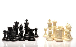 Chess pieces. Set of black and white chess pieces Royalty Free Stock Image
