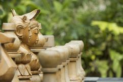 Chess Pieces 2. Carved indonesian chess pieces Stock Image
