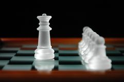 Chess pieces-20. Close up of chess pieces Stock Photography