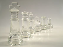 Chess pieces. King and court Stock Photos