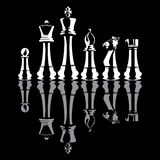 Chess pieces. Vector illustration of abstract chess pieces royalty free illustration