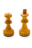 Chess pieces. On white background Royalty Free Stock Images