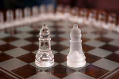 Chess pieces. A pair of chess pieces, bishops Stock Photography