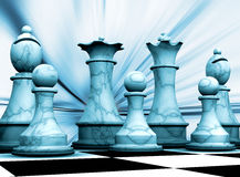 Chess pieces. Abstract background with chess pieces stock illustration