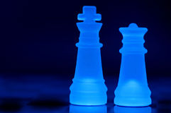 Chess Pieces. King and queen background Royalty Free Stock Image