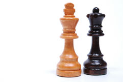 Chess Pieces. King and Queen royalty free stock photography