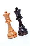 Chess Pieces. Opposing Queens royalty free stock images