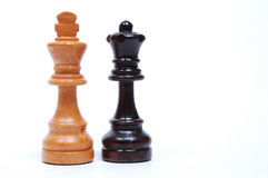 Chess Pieces. Opposing Queens royalty free stock image