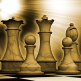 Chess pieces. Ready for battle Royalty Free Stock Photos
