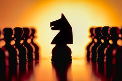 Chess pieces. Abstract of some Chess pieces Stock Image