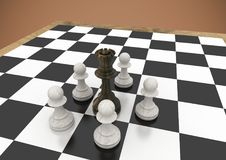 Chess pieces against brown background. Digital composite of Chess pieces against brown background vector illustration