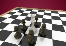 Chess pieces against maroon background. Digital composite of Chess pieces against maroon background vector illustration