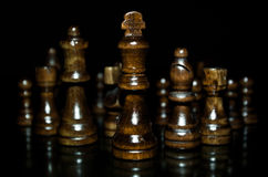 Chess pieces. All chess pieces in front of the camera Royalty Free Stock Image