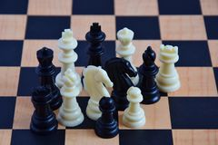 Chess pieces arbitrarily Stock Images