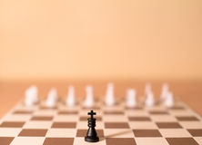 Chess pieces as metaphor - authority Royalty Free Stock Images