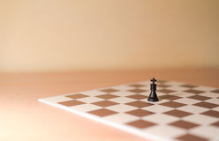Chess pieces as metaphor - loneliness, individualism Stock Photography