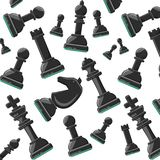 Chess game design. Chess pieces background colorful design vector illustration Royalty Free Stock Photography