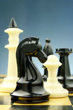 Chess pieces on the board Stock Photography