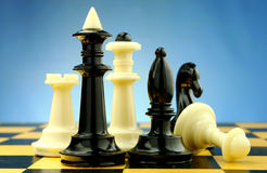 Chess pieces on the board Stock Image