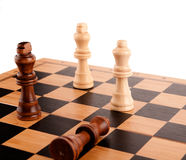 Chess pieces on the board Royalty Free Stock Image