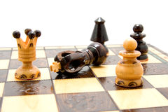 Chess pieces on board Royalty Free Stock Photo