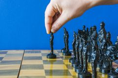 Chess pieces on the board. stock images