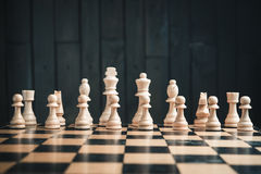 Chess pieces on the board Royalty Free Stock Photos