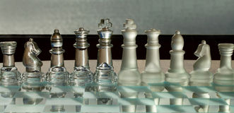 Chess Pieces, Board - business concept series. Royalty Free Stock Photos