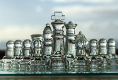 Chess Pieces, Board - business concept series. Royalty Free Stock Image