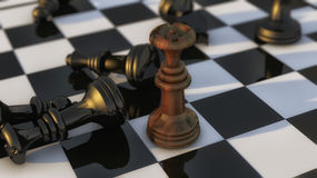 Chess pieces and board Royalty Free Stock Photography