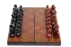 Chess pieces and board eight Royalty Free Stock Photography