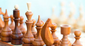 Chess pieces on the board Royalty Free Stock Photo