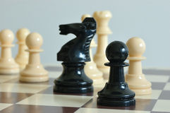 Chess. Pieces on the board during the game Stock Photography
