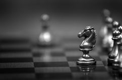 Chess Pieces on Board for Game and Strategy Stock Image