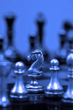 Chess Pieces on Board for Game and Strategy Royalty Free Stock Image