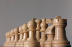 Chess. Pieces on the board ready for battle Royalty Free Stock Photo