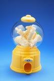 Chess Pieces in Bubblegum Machine. On Blue Background Stock Photos